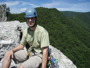 Top of Seneca Rocks WV