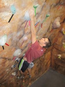 Indoor rock climber gym